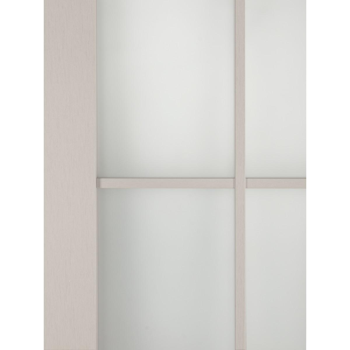 Дверь Межкомнатная Остеклённая С Фурнитурой Пьемонт 60Х200 Hardflex Цвет Платина Светлая