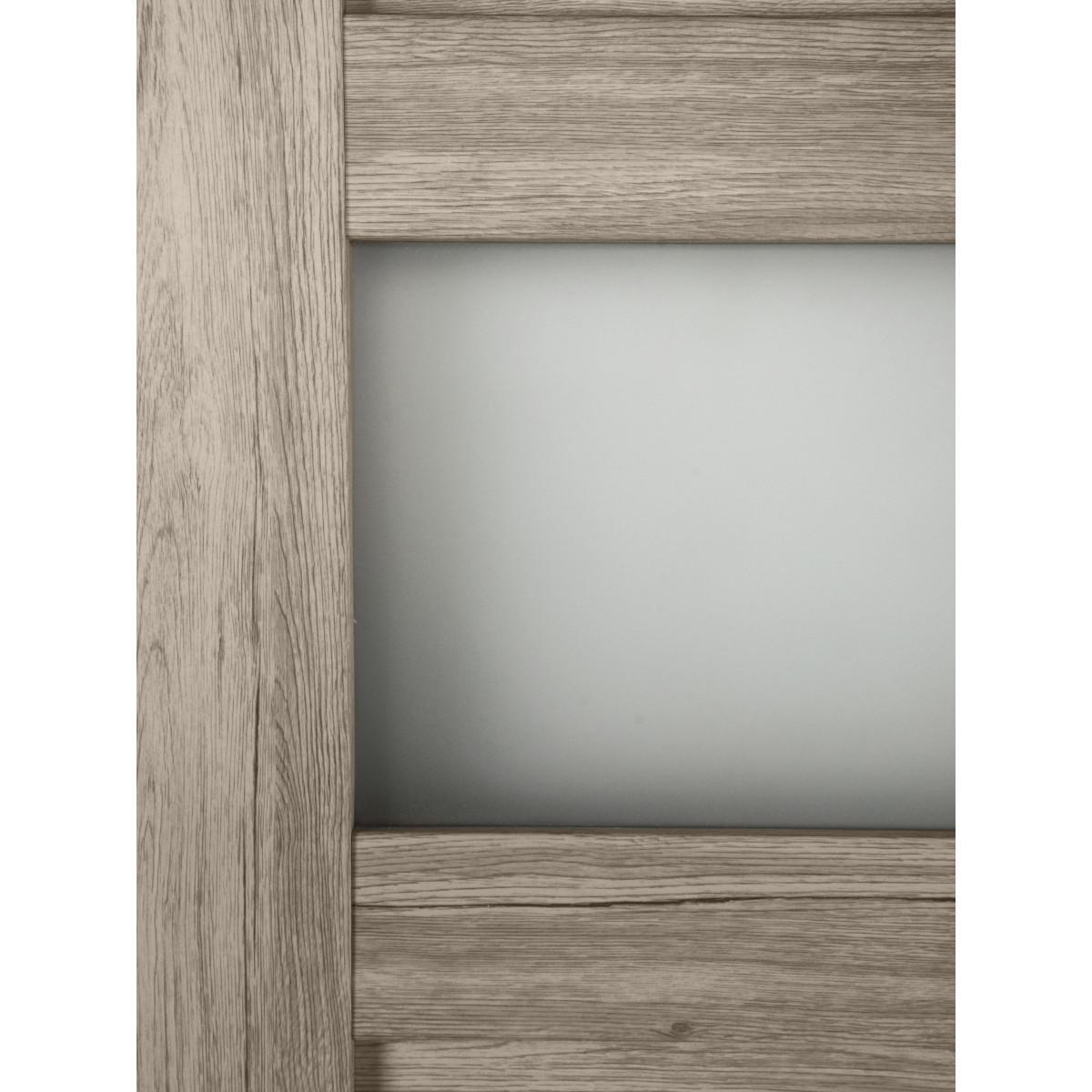 Дверь Межкомнатная Остеклённая Прэсто 80Х200 Пвх Цвет Дуб Санремо Светлый С Фурнитурой