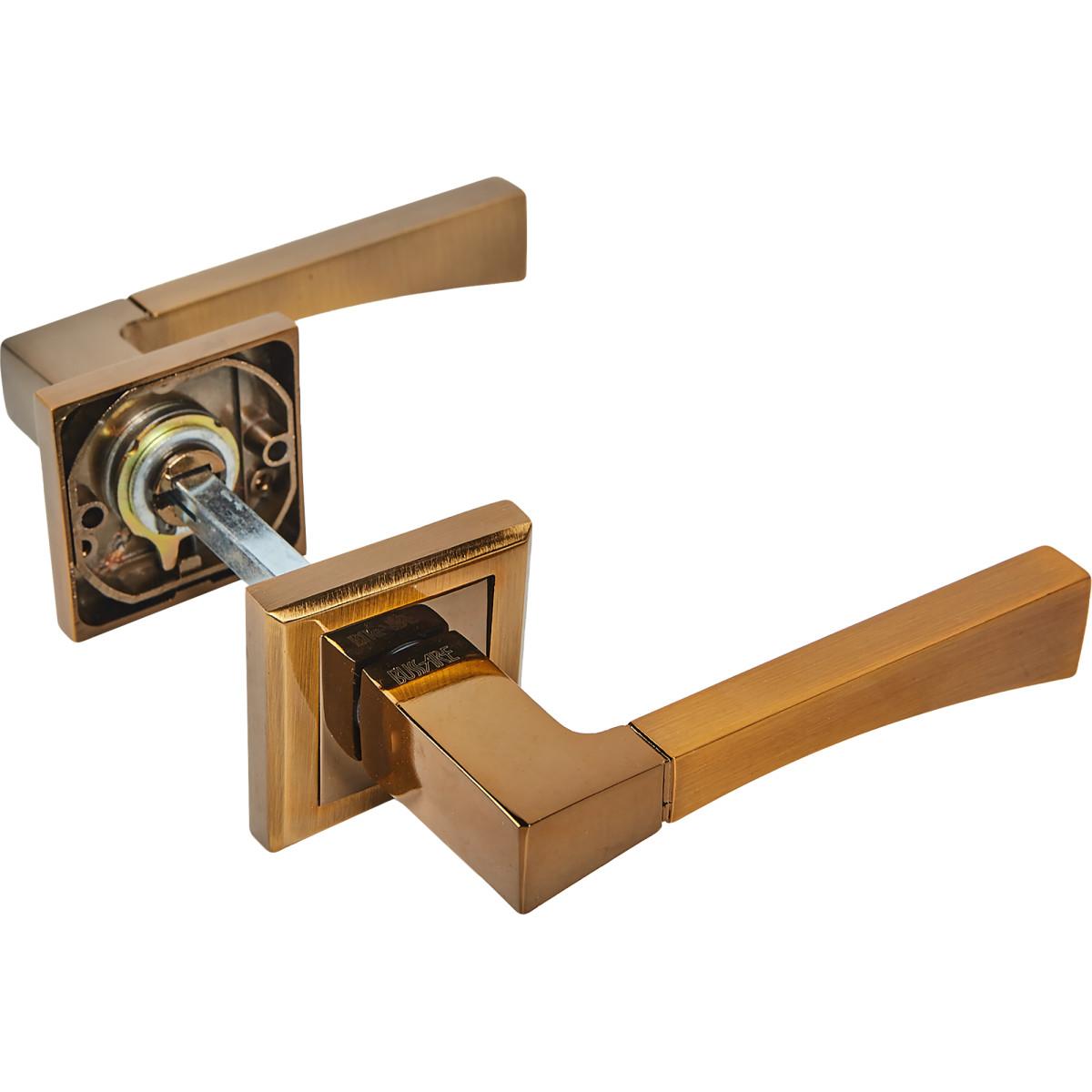 Дверная ручка Edson EDS-16-30 без запирания комплект цвет кофе