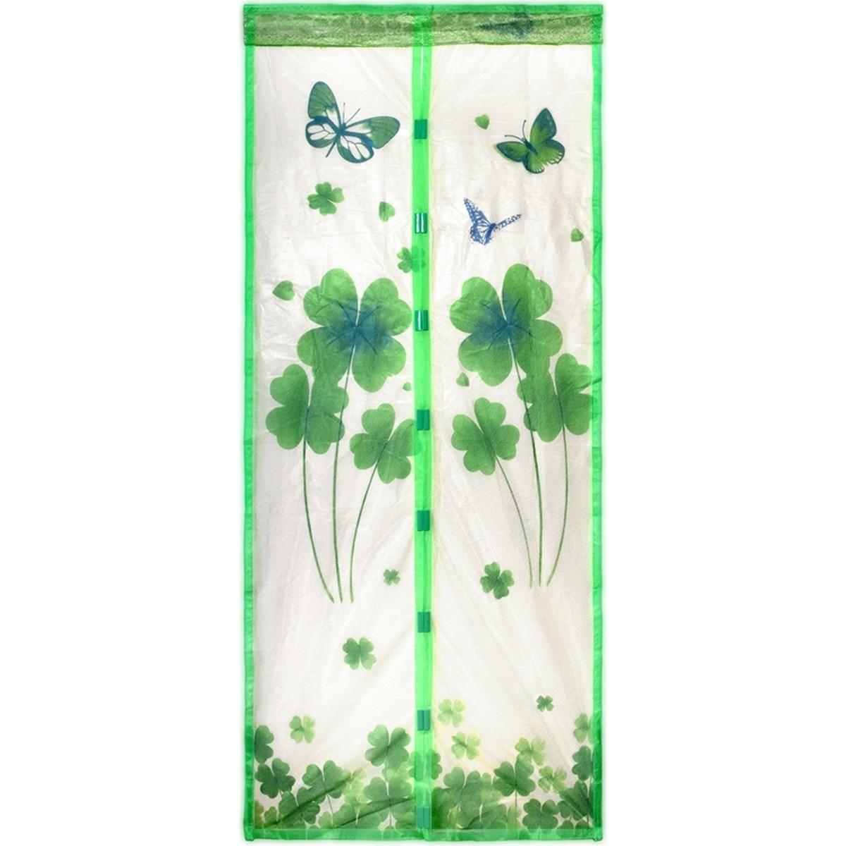 Москитная сетка-штора на дверь 45x210 см цвет серый/зеленый 2 шт.