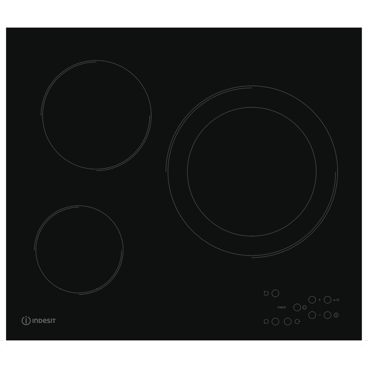 Варочная панель электрическая Indesit RI 360 C 3 конфорки 56x49 см цвет черный