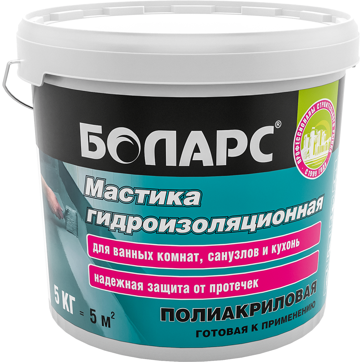 Мастика гидроизоляционная Боларс полиакриловая 5 кг