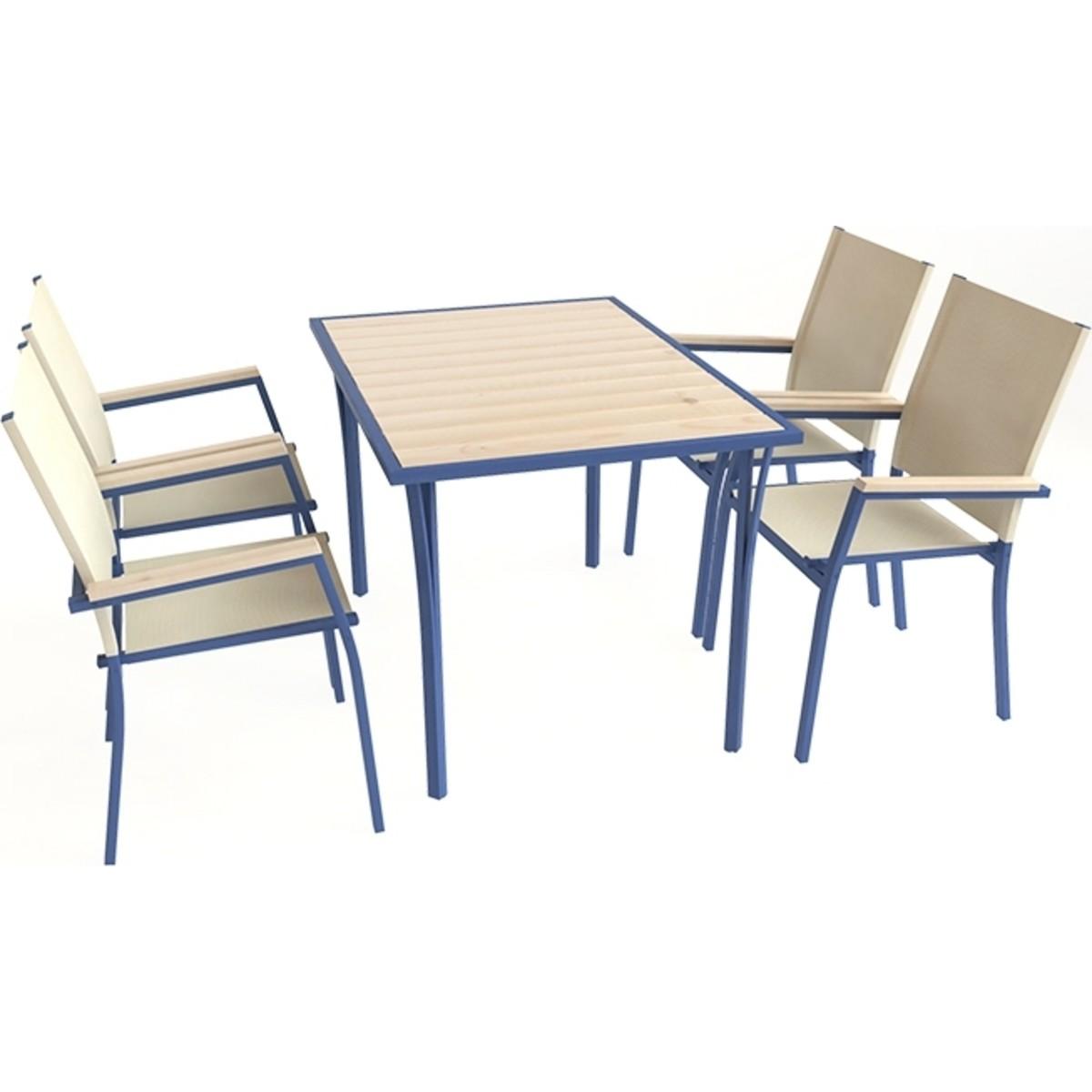 Комплект садовой мебели Енисей 1 стол и 4 стула
