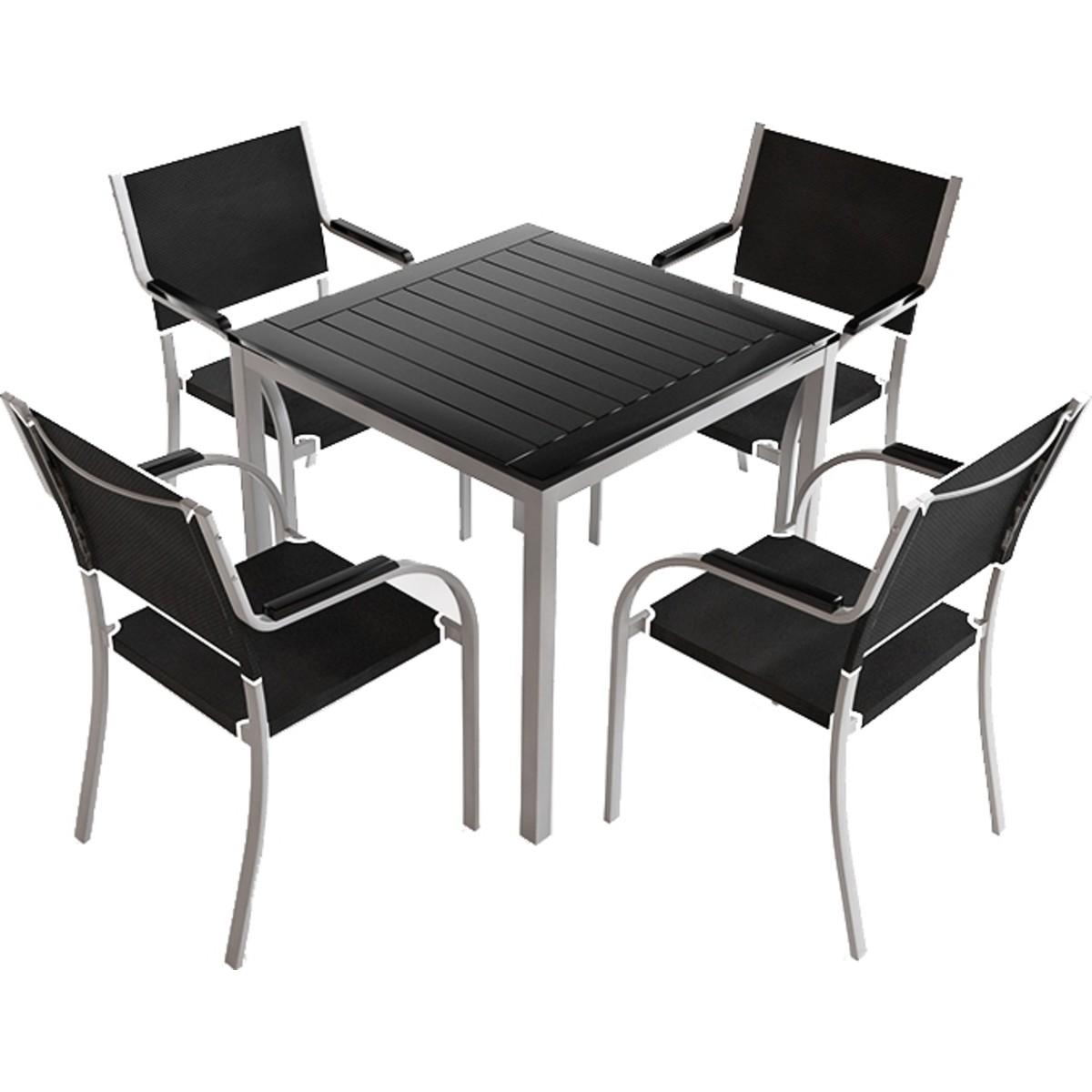 Комплект садовой мебели Самара 1 стол и 4 стула