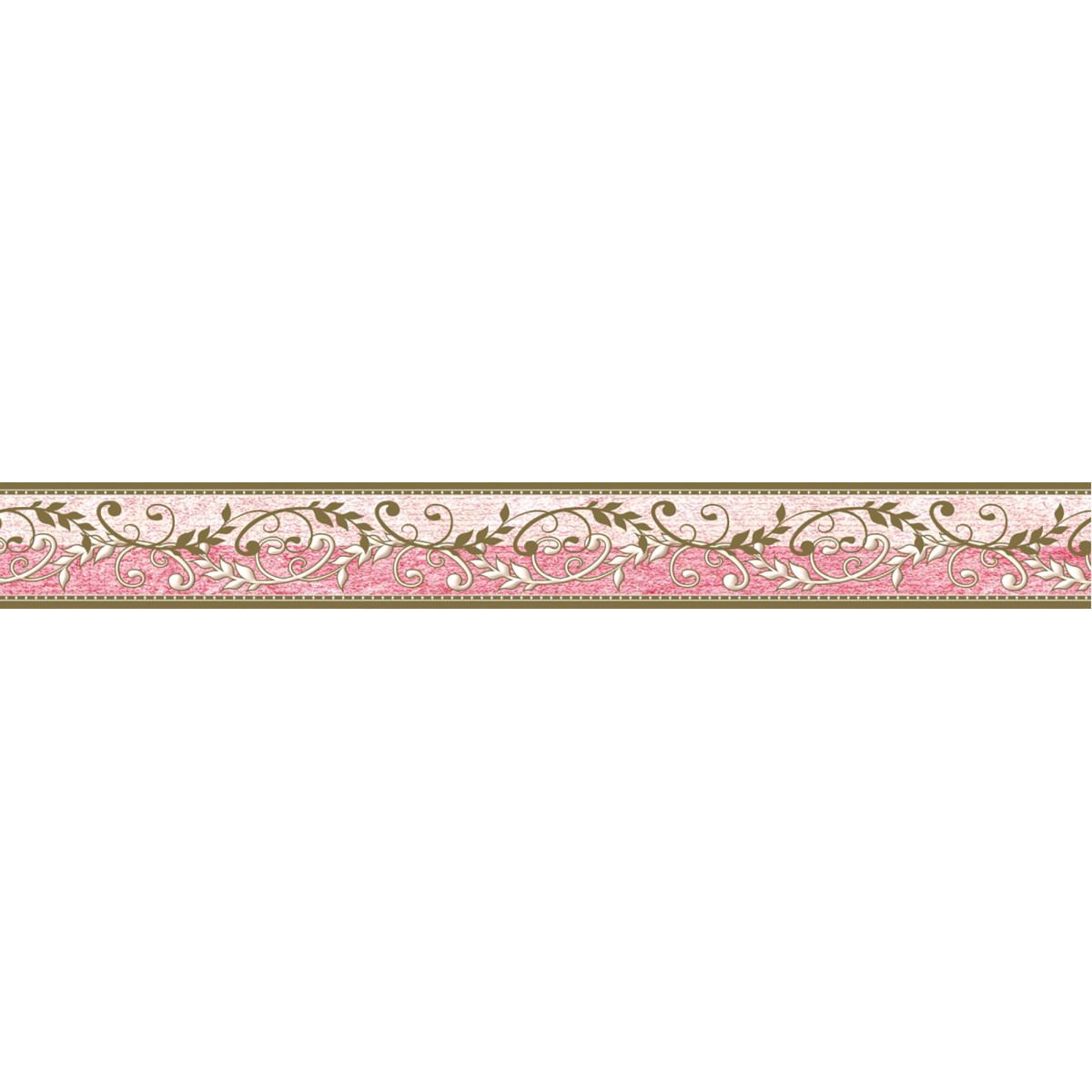 Бордюр бумажный «Симфония» Б-025 0.04x1.4 м вензель цвет бежевый/розовый