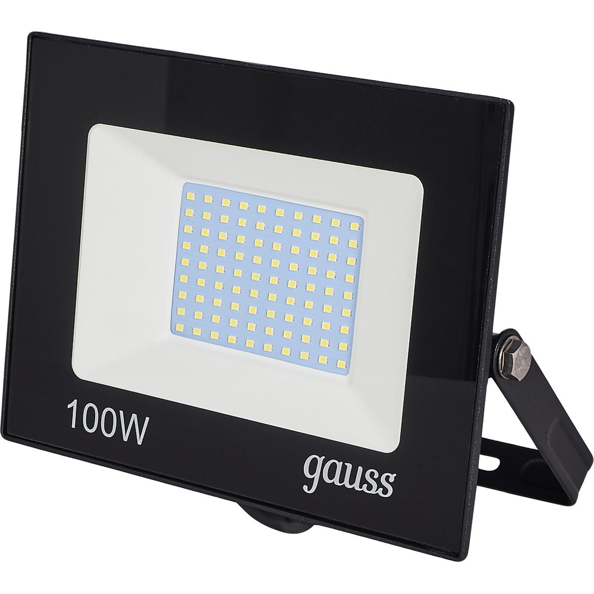 Прожектор светодиодный уличный Gauss Basic 100 Вт 6500К IP65 цвет черный