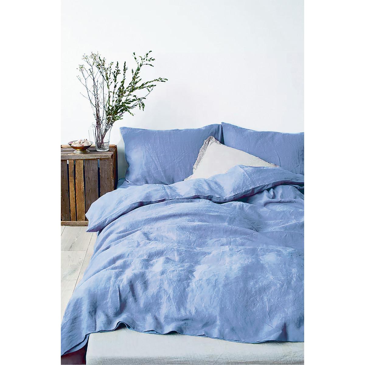 Комплект Постельного Белья Rustic Blue Полутораспальный Полисатин Синий