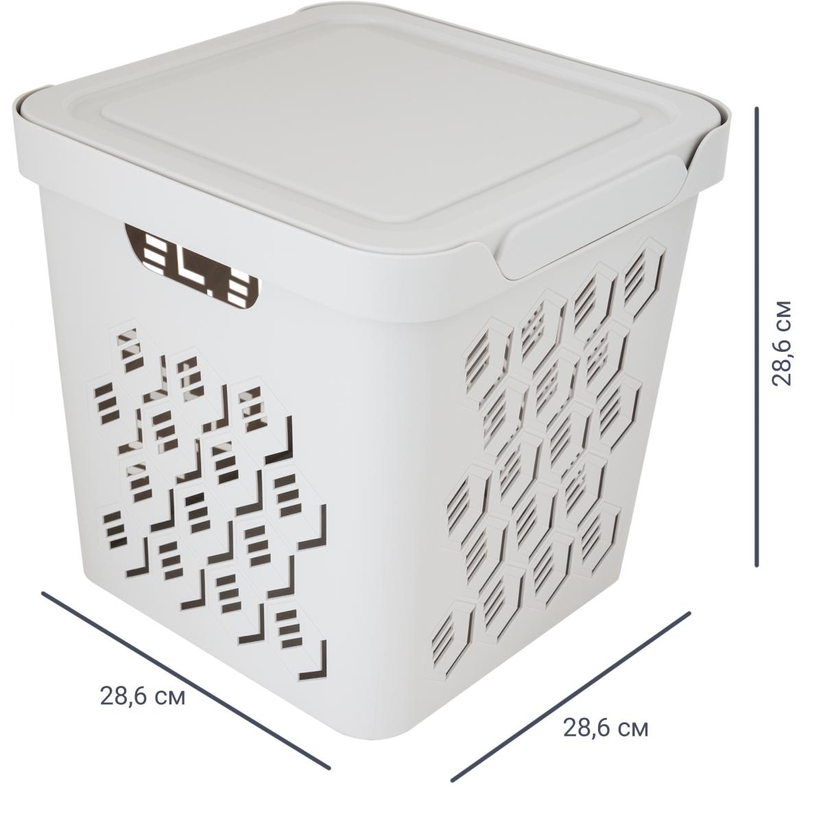 Ящик с крышкой Deluxe 286х286х286 см пластик цвет бежевый
