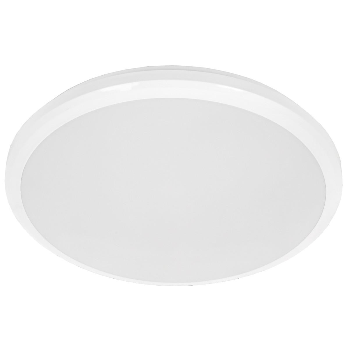 Светильник светодиодный ДПБ 3007 32 Вт IP54 накладной круг цвет белый