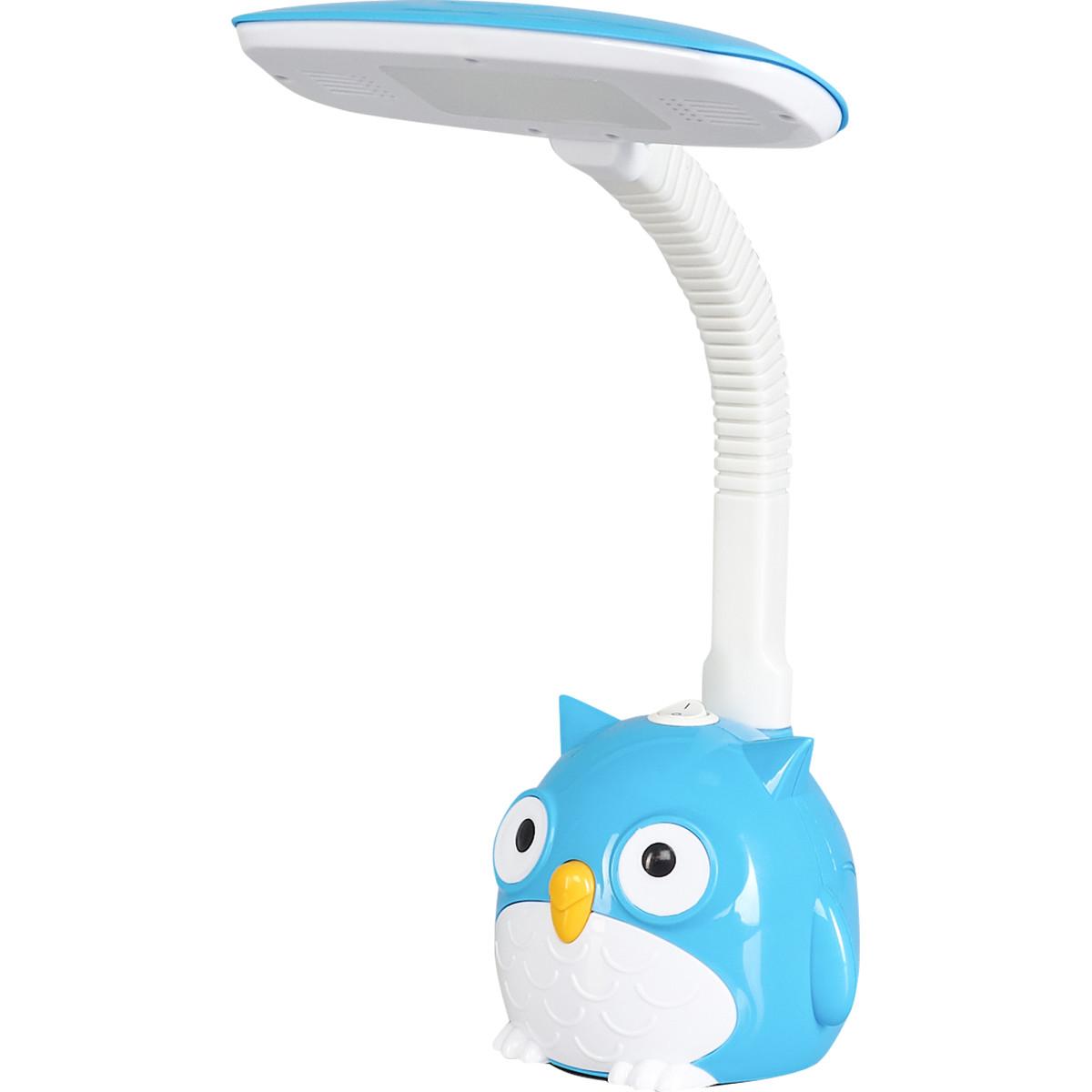 Рабочая лампа настольная светодиодная Сова KD-855 цвет синий