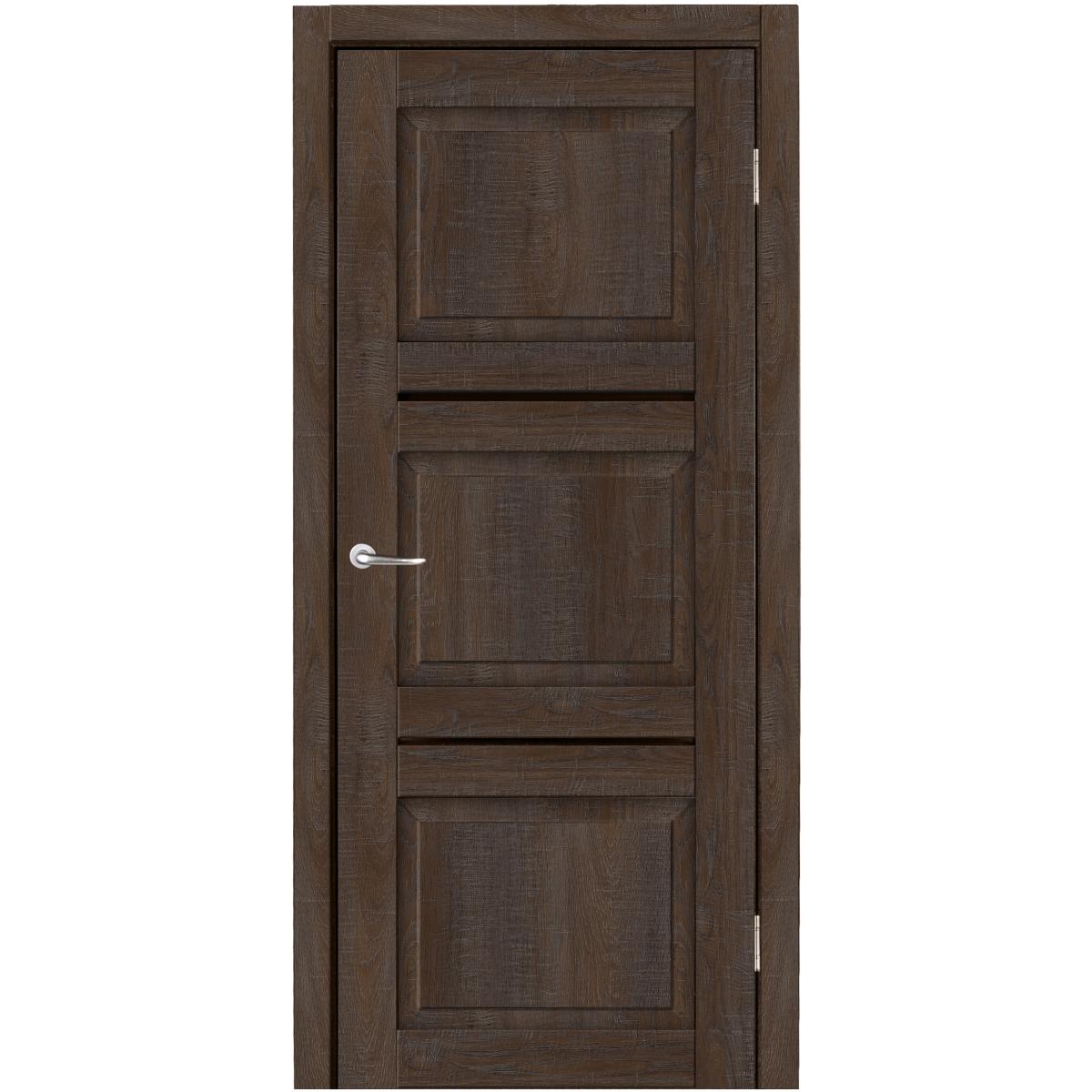 Дверь Межкомнатная Глухая С Замком И Петлями В Комлпекте Гранде 60x200 Cpl Цвет Дуб Соубери