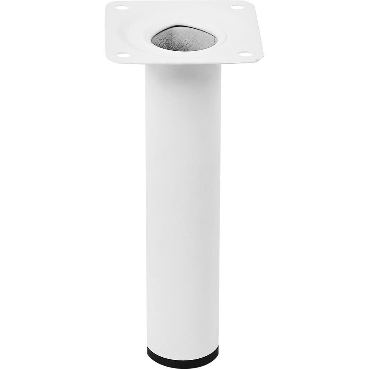 Ножка круглая 150х30 мм сталь цвет белый