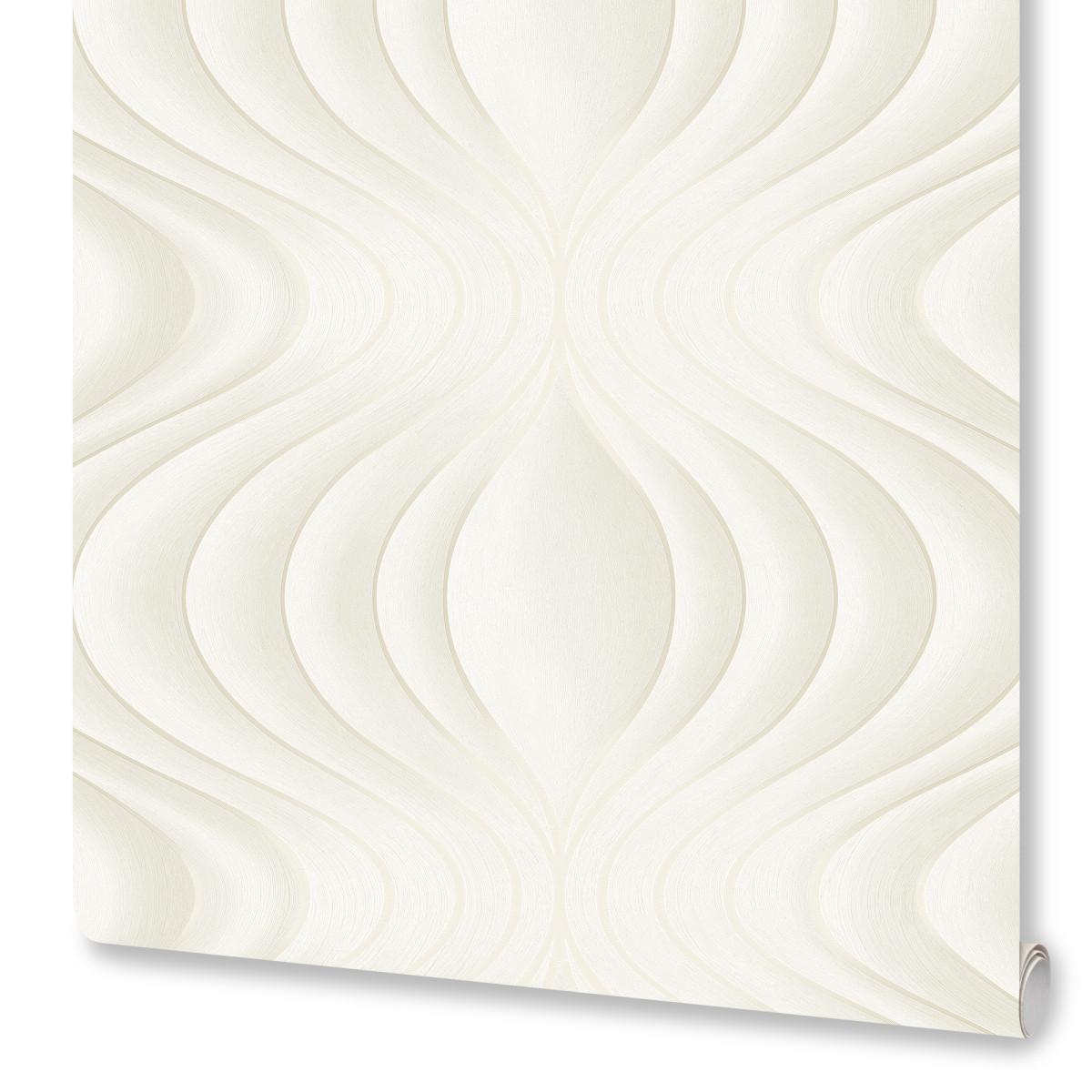 Обои флизелиновые Marburg Welle белые 1.06 м 97710