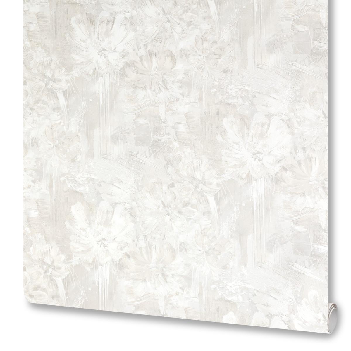 Обои флизелиновые Kelly белые 1.06 м VS889811