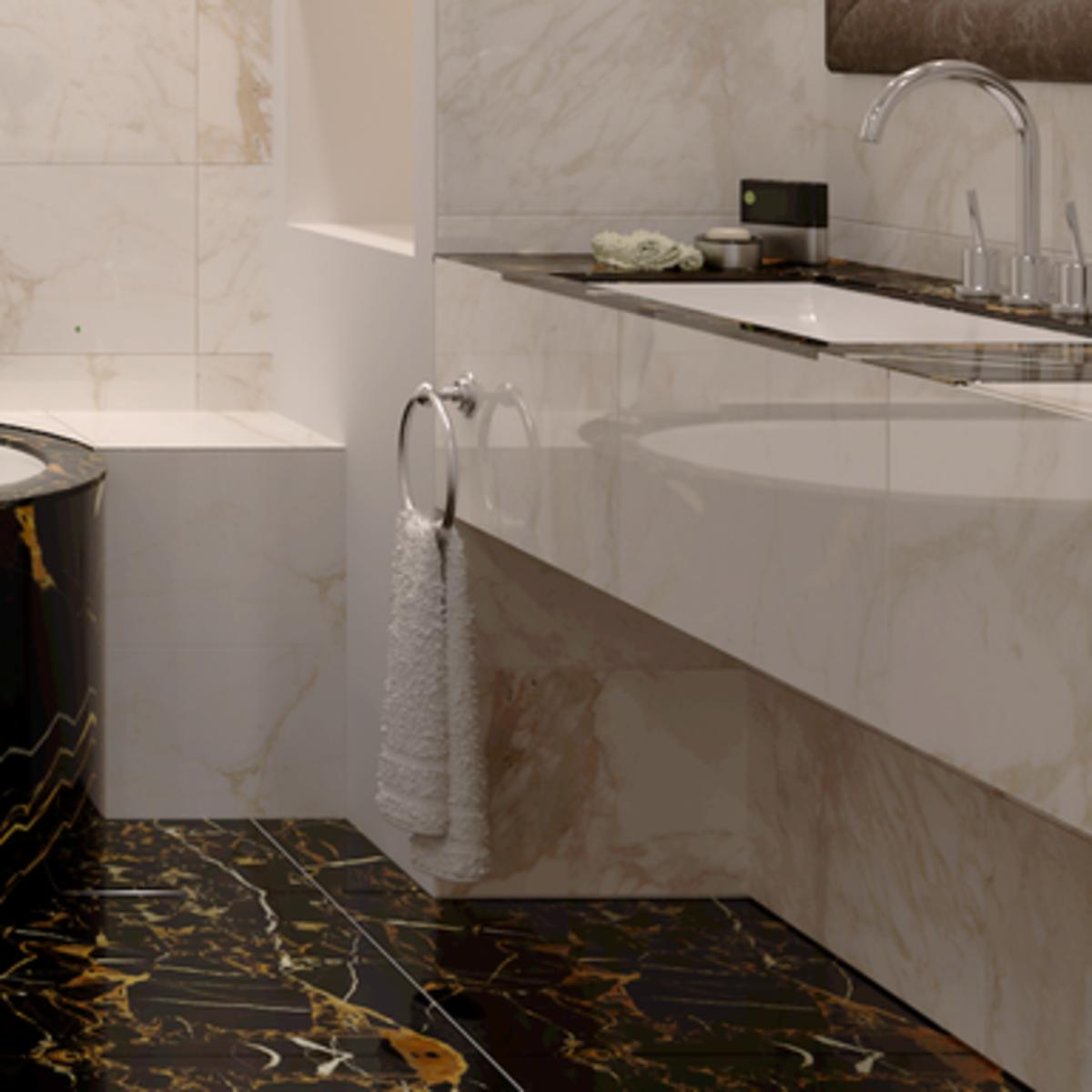 Керамогранит Golden Tile Saint Laurent 60.7x60.7 см 1.105 м² цвет чёрный
