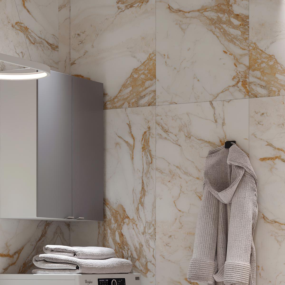 Керамогранит Calacatta Oro 120x60 см 1.44 м² цвет золотистый