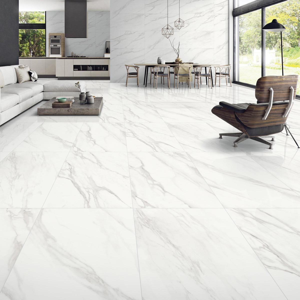 Керамогранит Calacatta Superb 120x60 см 1.44 м² цвет белый