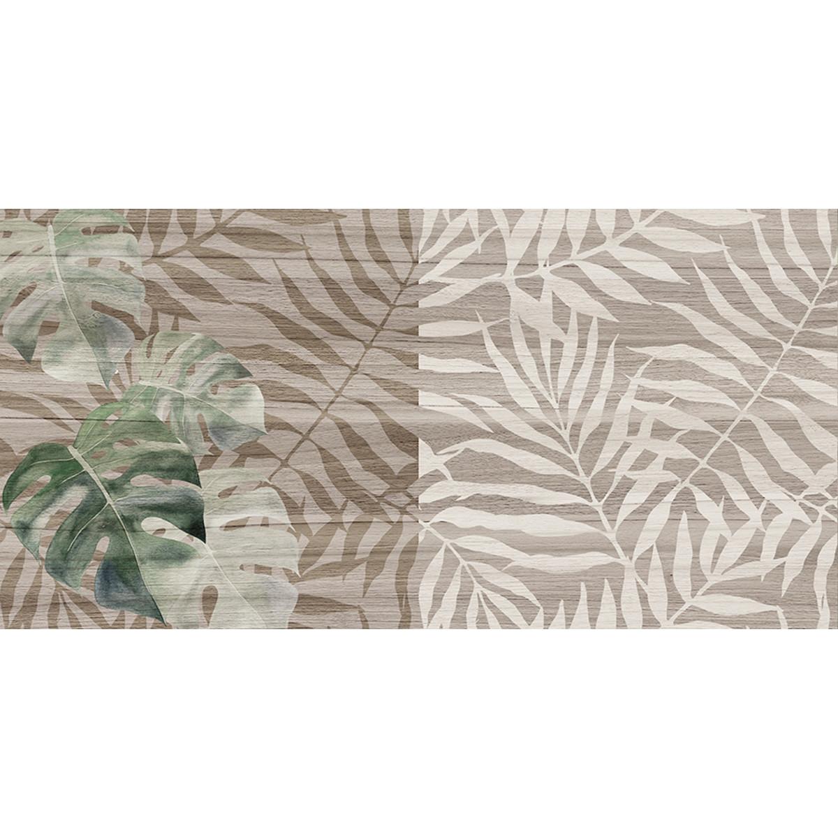 Плитка настенная Organic с узором 20х40 см 1.2 м² цвет серый