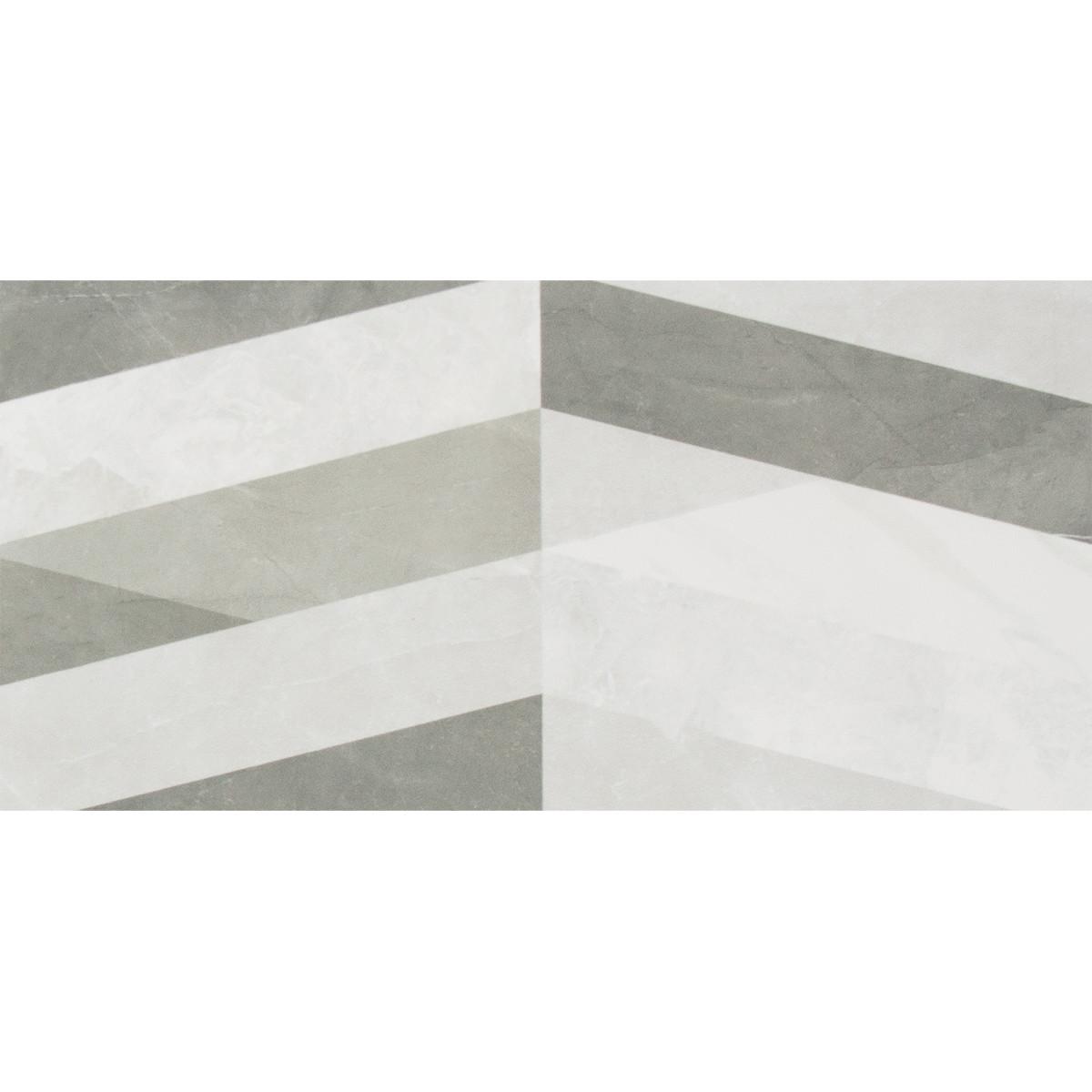 Плитка настенная Savoy мозаика 20х40 см 1.2 м² цвет серый
