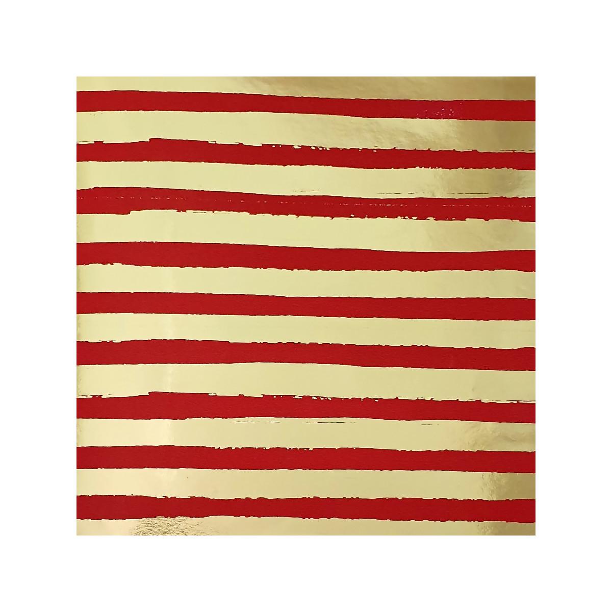Бумага упаковочная «Красные полоски» 70х100 см