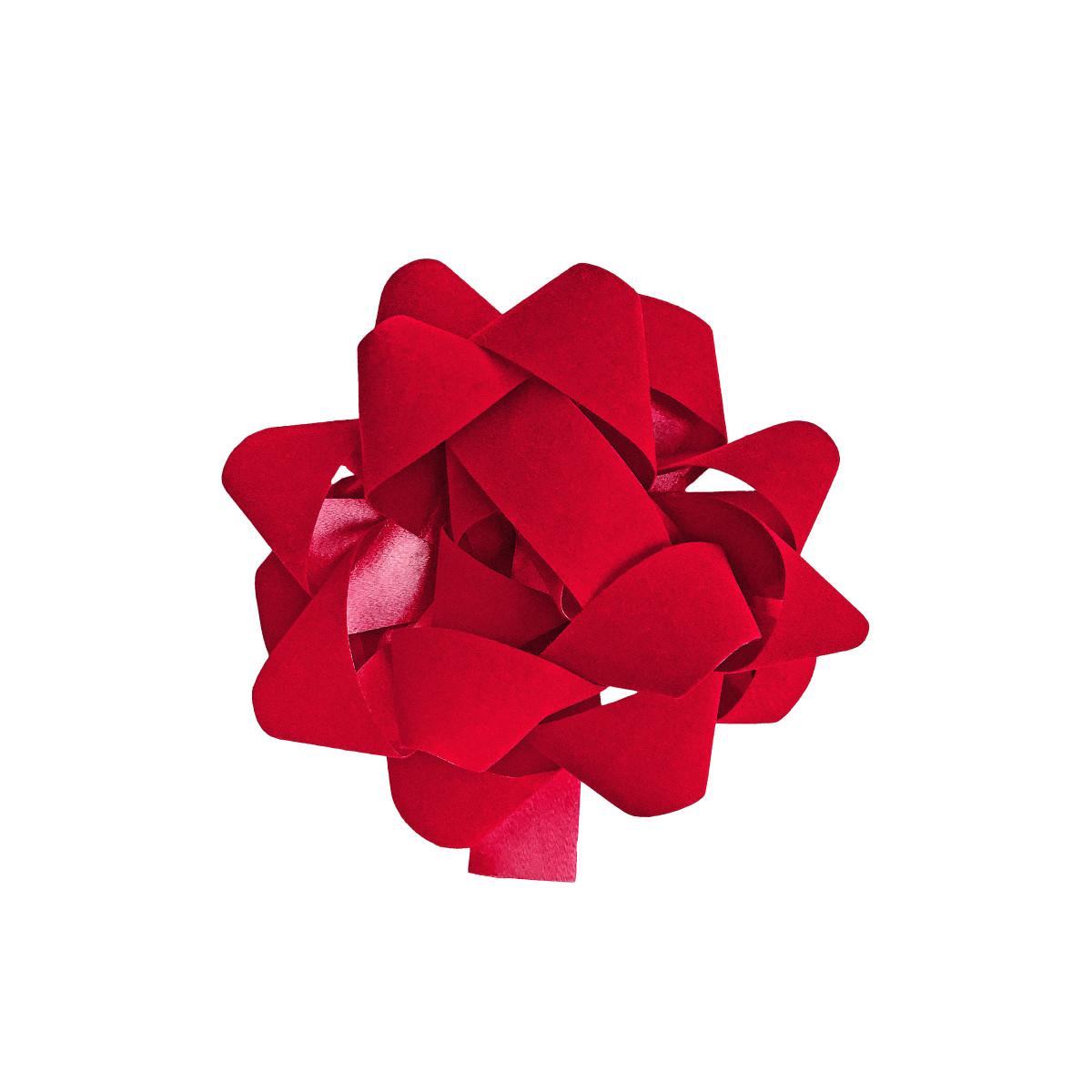 Бант декоративный 5х12х12 см цвет красный