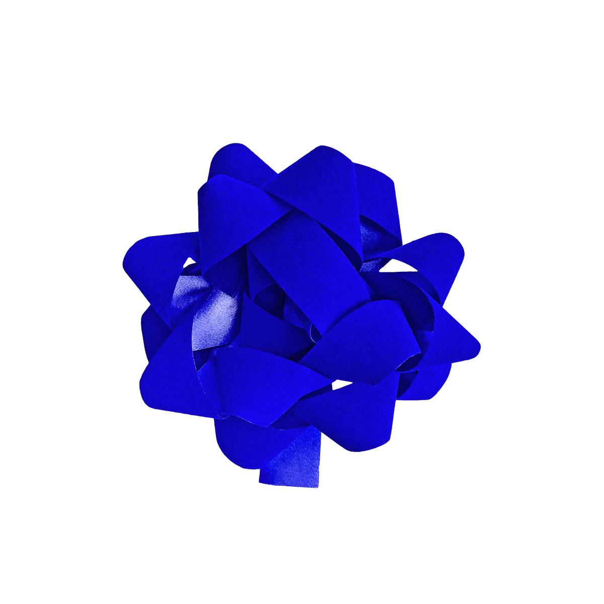 Бант декоративный 5х12х12 см цвет синий