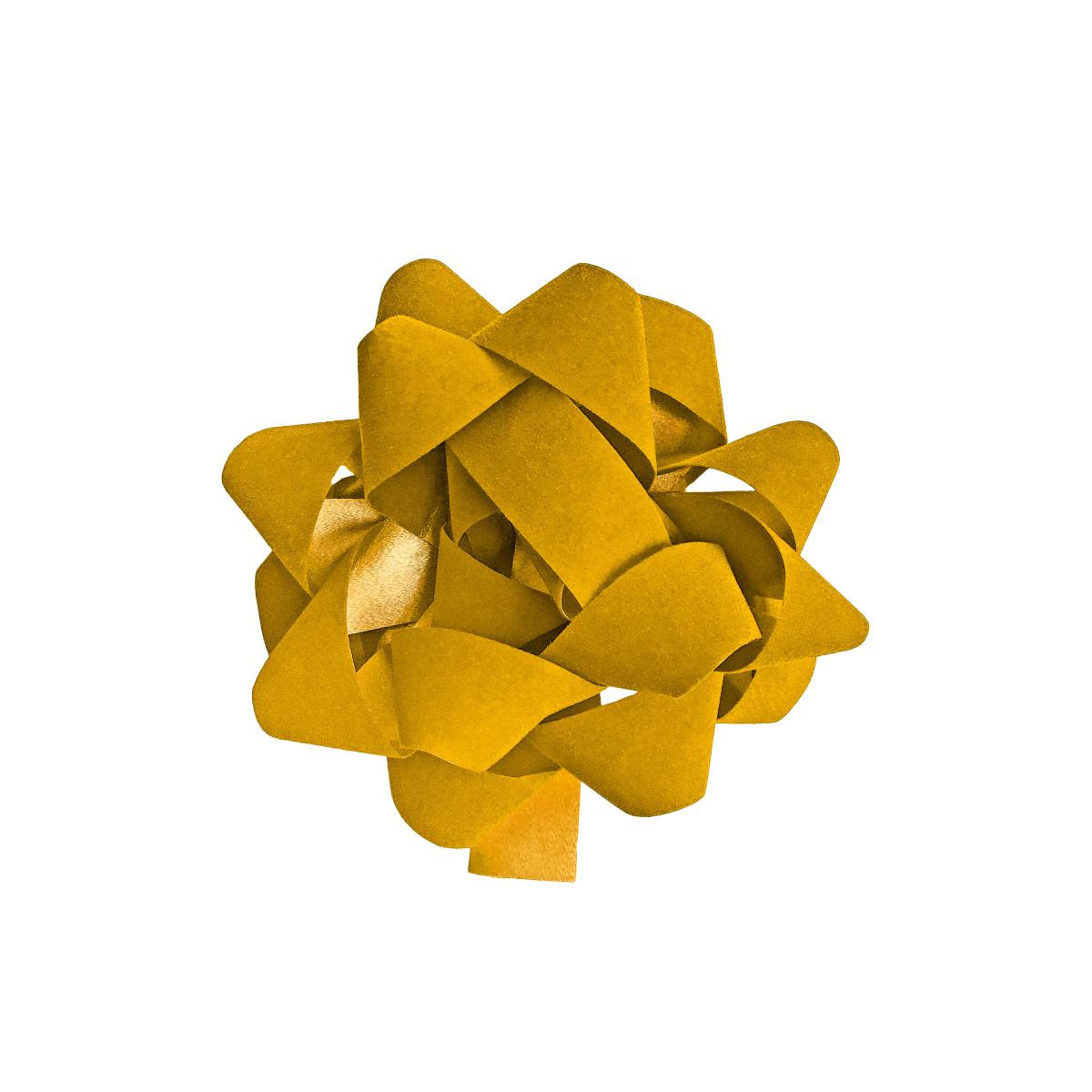 Бант декоративный 5х12х12 см цвет жёлтый