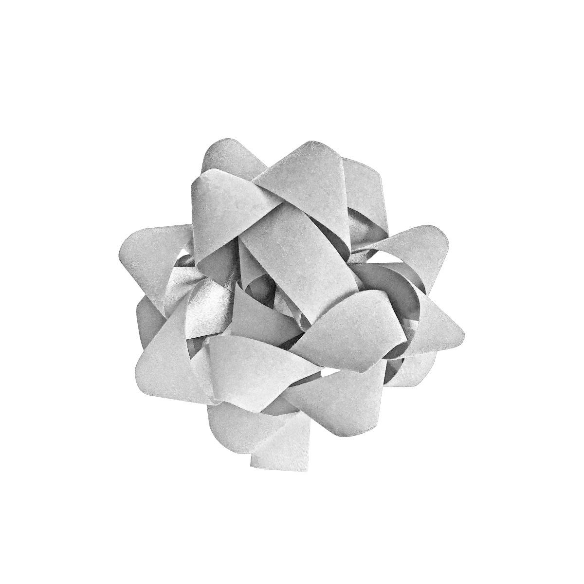 Бант декоративный 5х12х12 см цвет белый