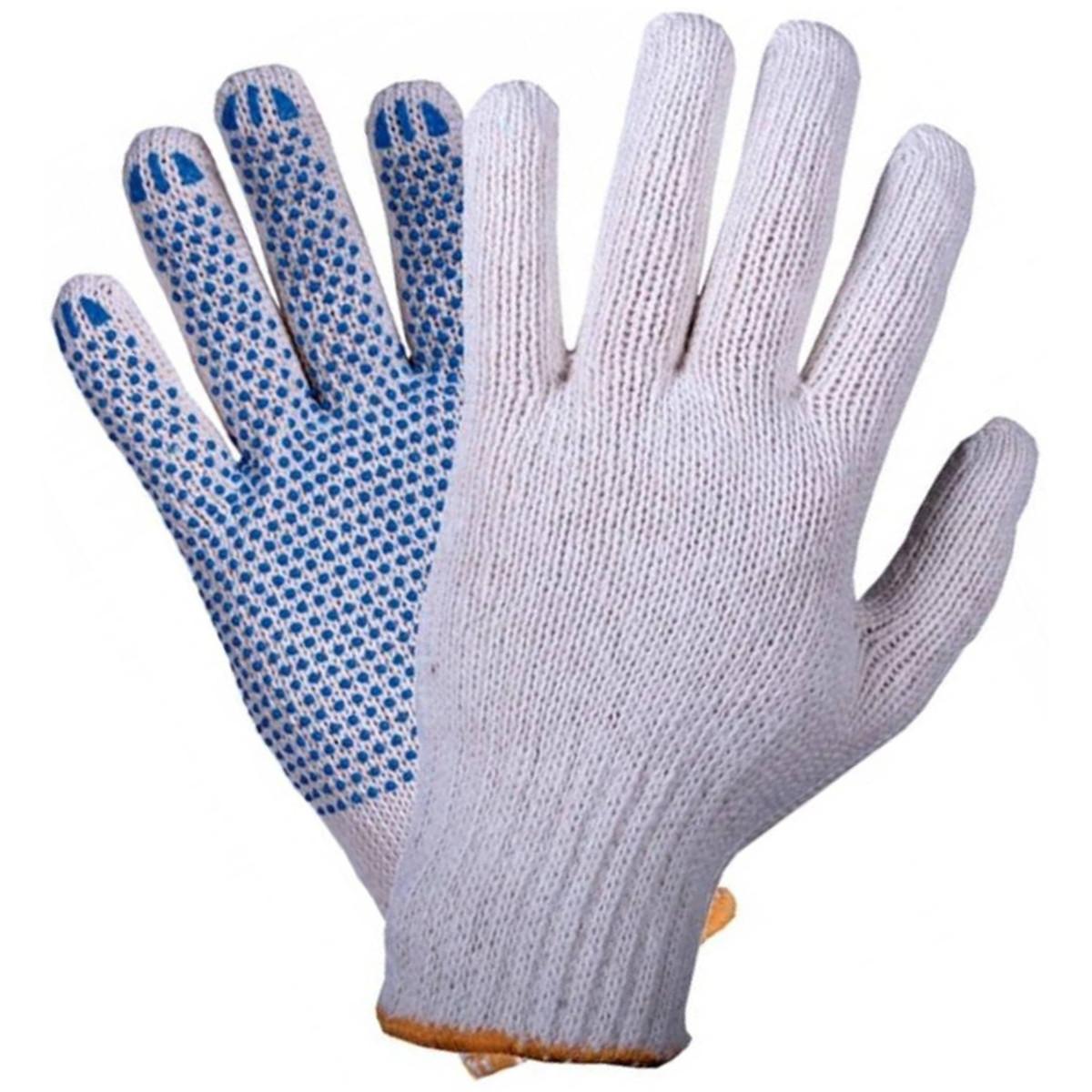 Набор перчаток х/б с ПВХ 6 пар