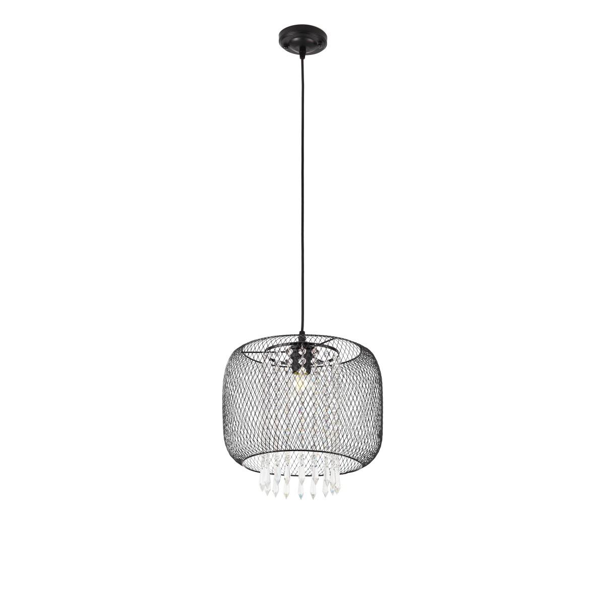Светильник подвесной овальный Marro 1 лампа 3 м² цвет черный