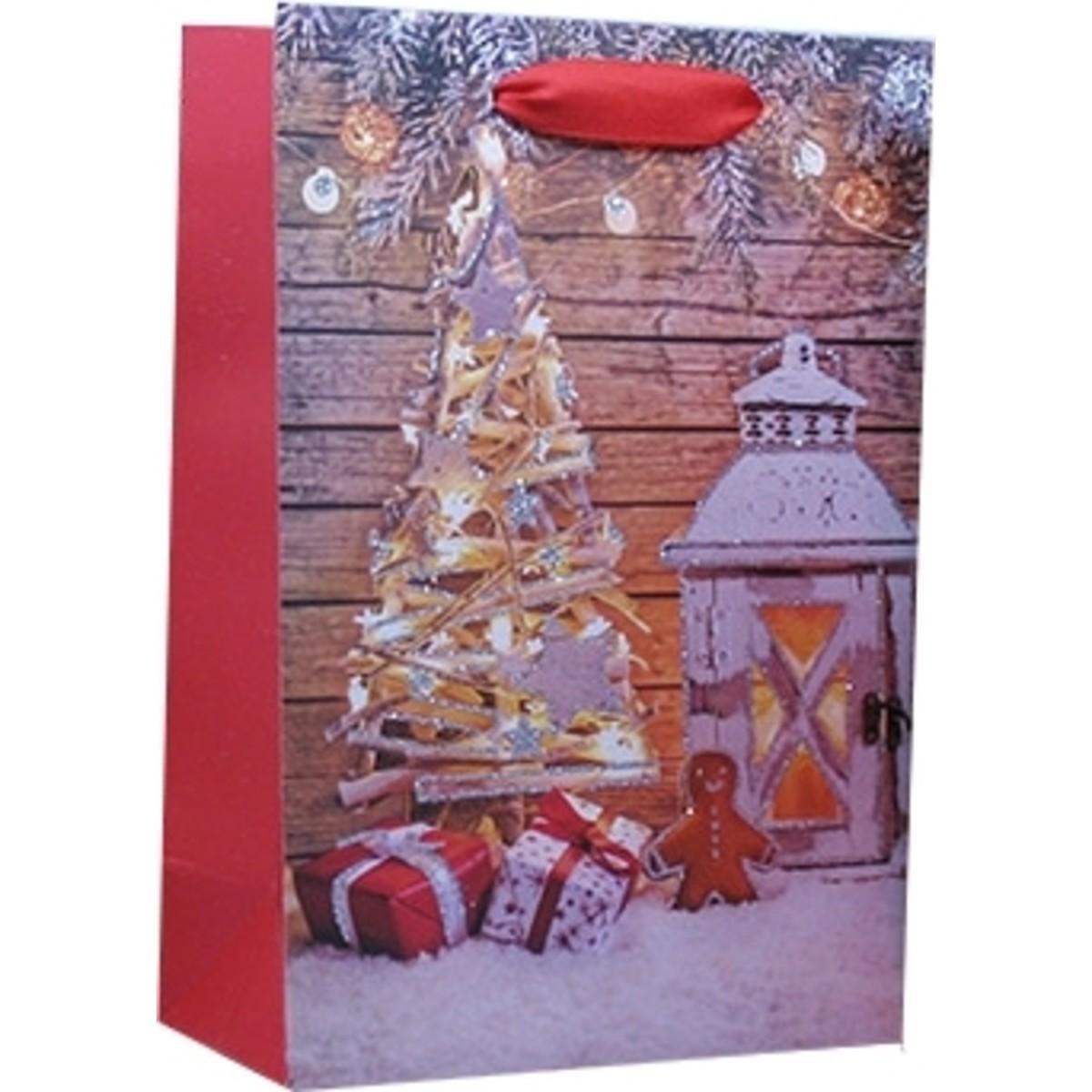 Пакет подарочный Новогодняя Елка 17.5 см