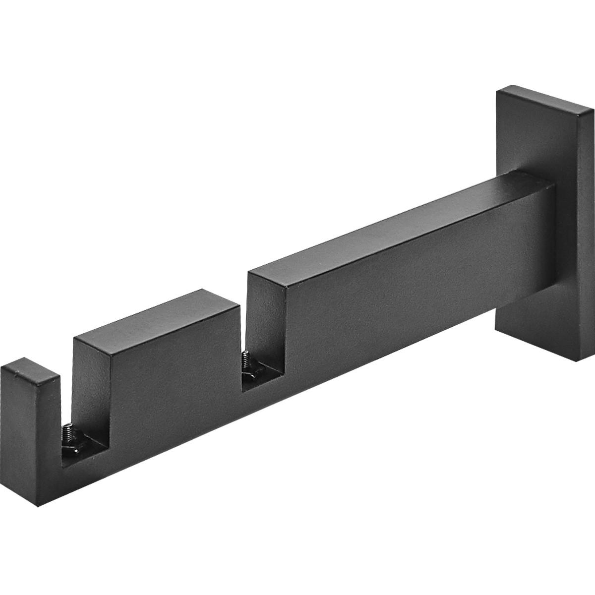 Держатель двурядный Хайтек алюминий цвет черный 17.6 см