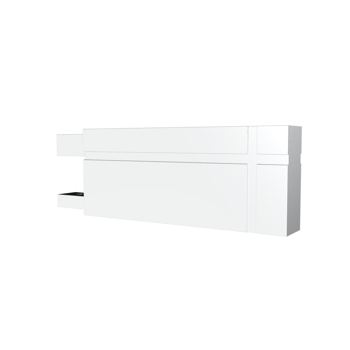 Наконечник Лайн металл цвет белый 9.3 см