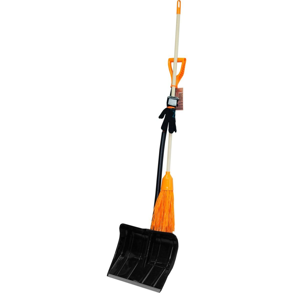 Набор для уборки снега лопата метла и перчатки  № 3