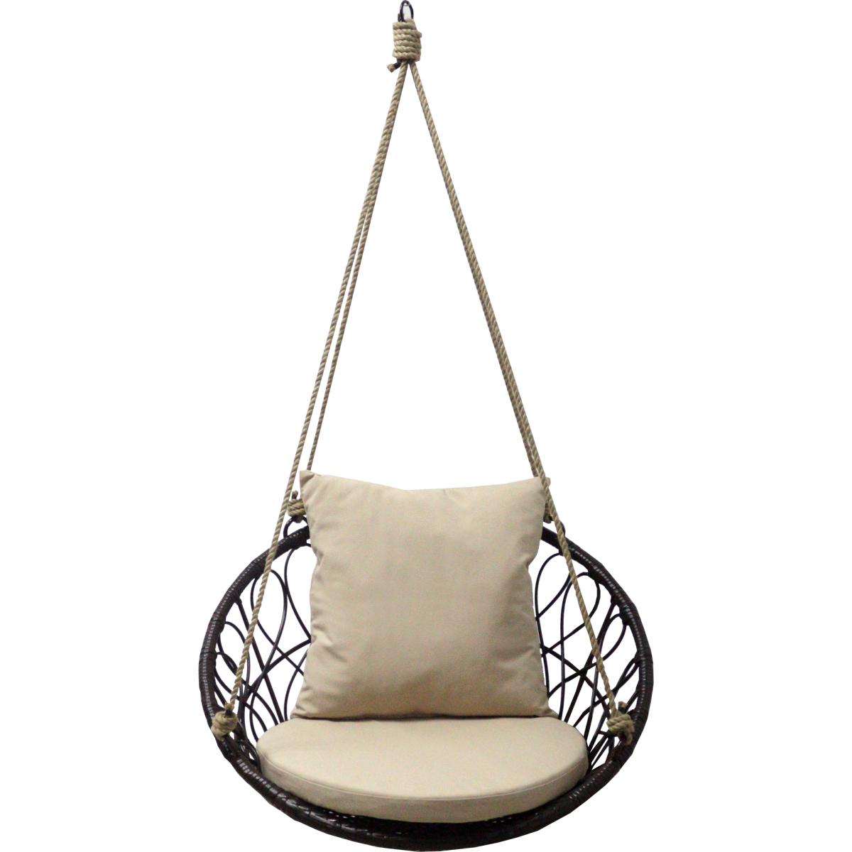 Кресло Подвесное Без Опоры Siesta 2 80x565x706 Искусственный Ротанг Темно-Коричневый/Бежевый