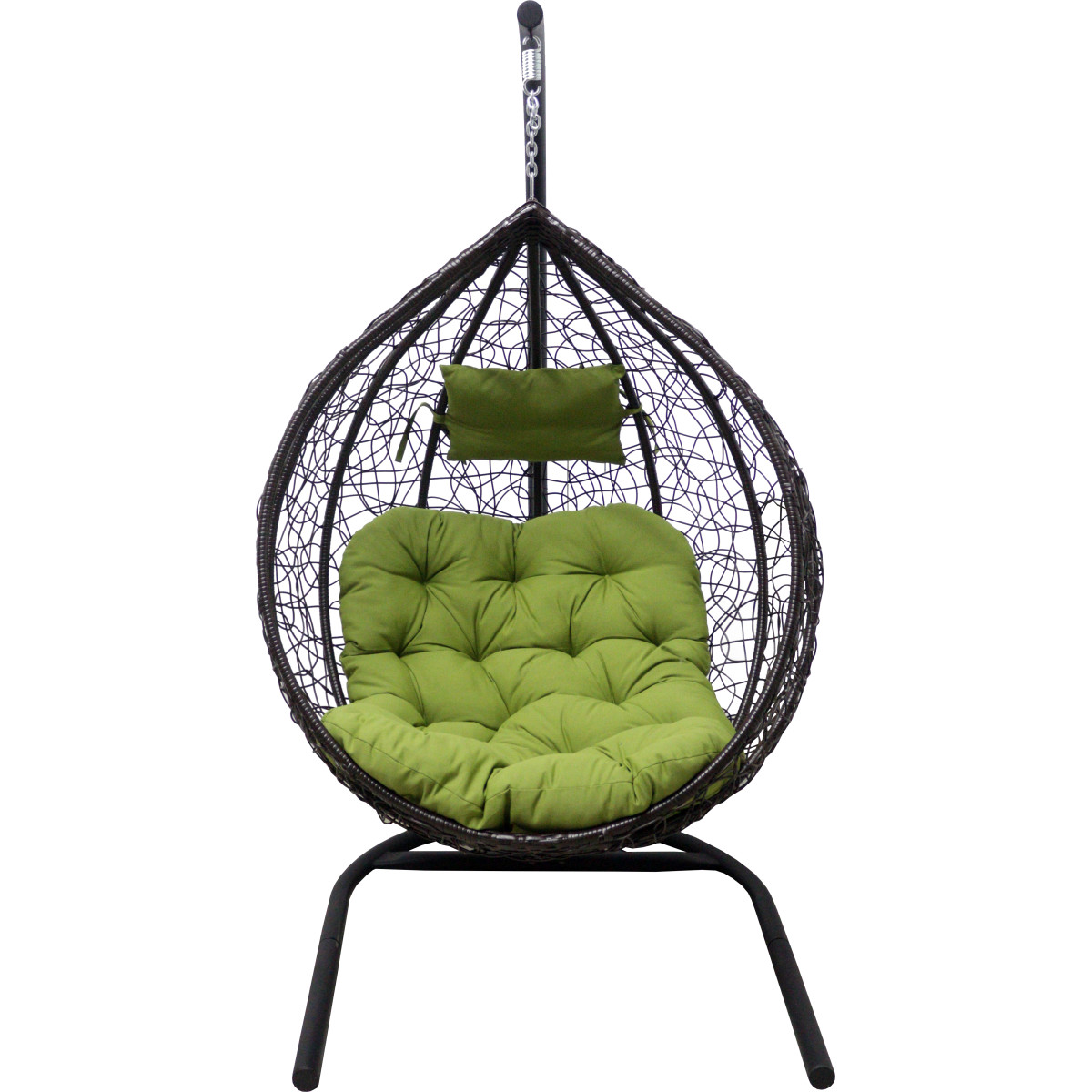 Кресло Подвесное С Опорой Veil 102x200x126 Искусственный Ротанг Темно-Коричневый/Оливковый