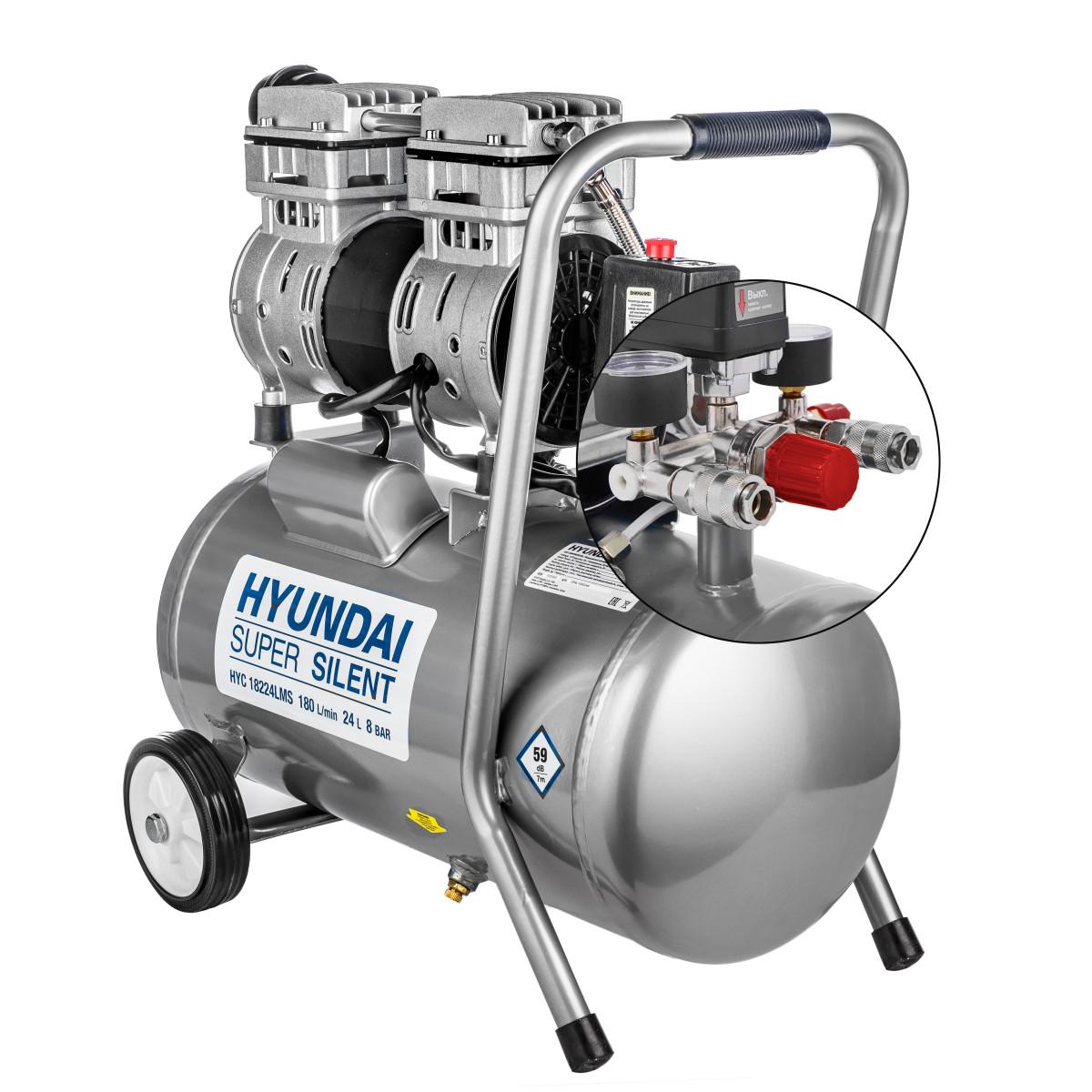 Компрессор Hyundai 24 л 180 л/мин 1 кВт