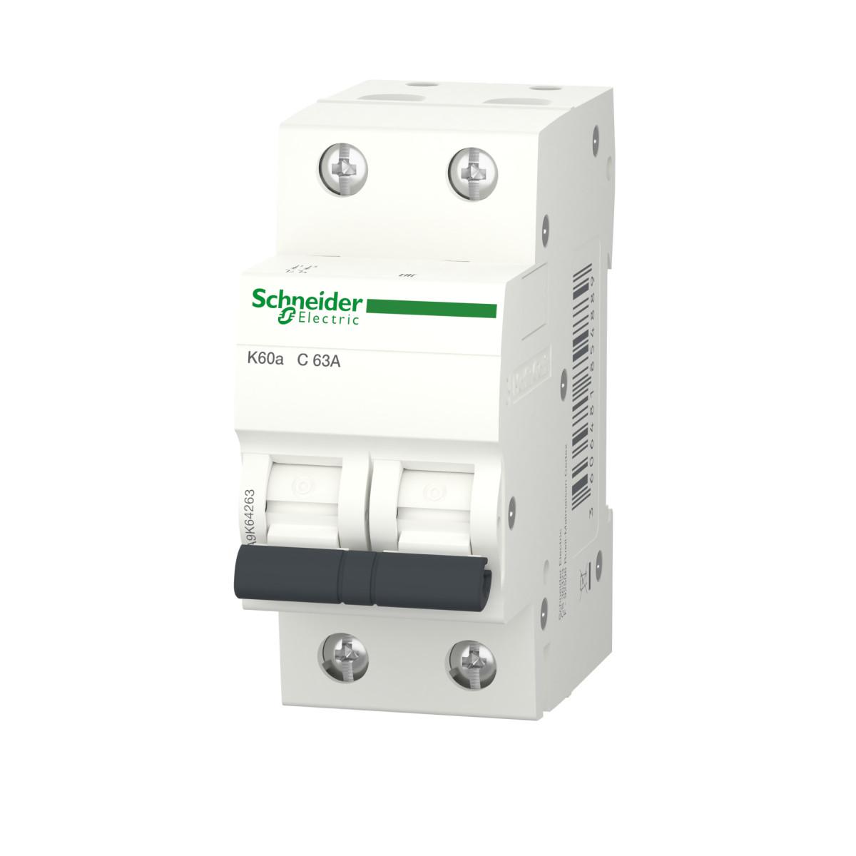 Выключатель автоматический Schneider Electric Acti9 2 полюса 63 А C