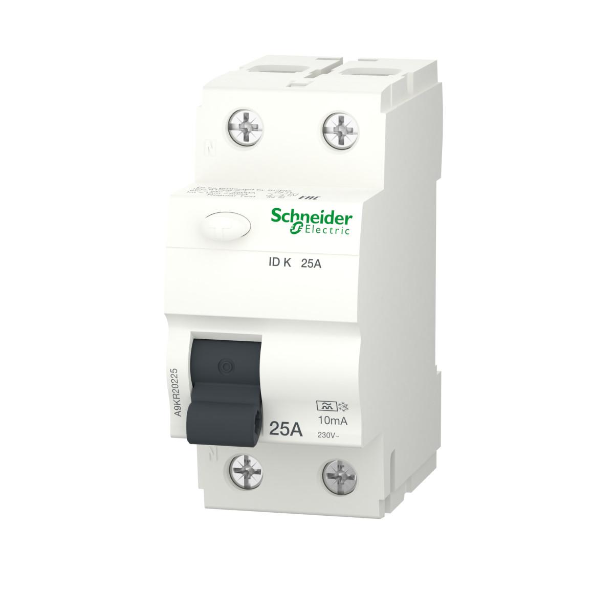 УЗО Schneider Electric Acti9 2 полюса 25 А 10 мА тип АС