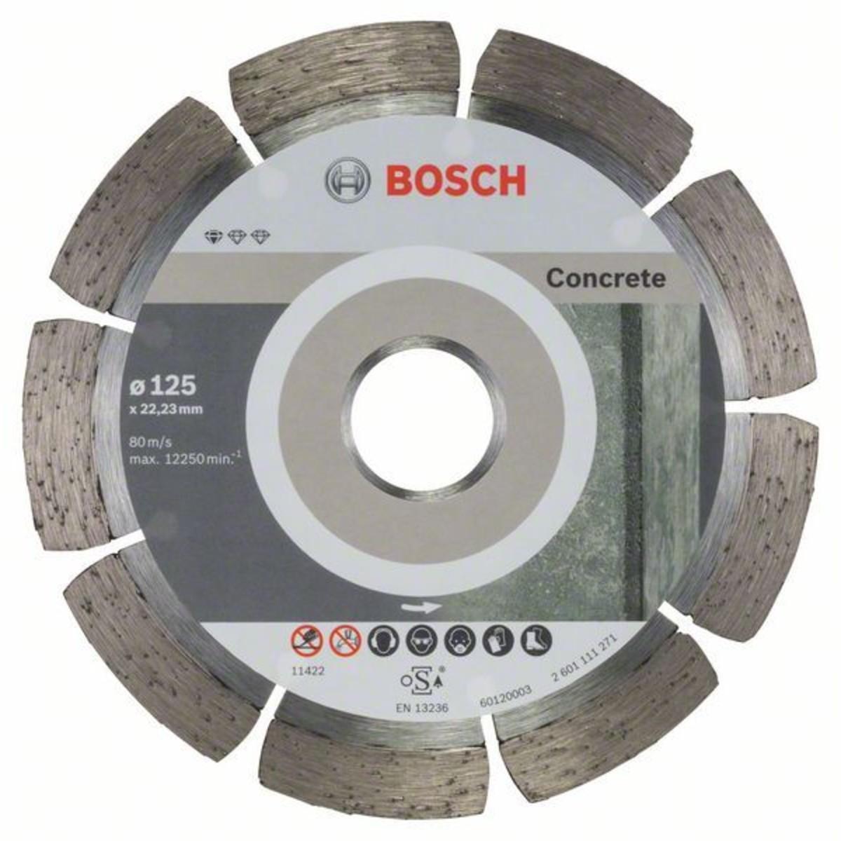 Набор дисков алмазных по бетону Bosch Standart 125x22.23 мм 10 шт.