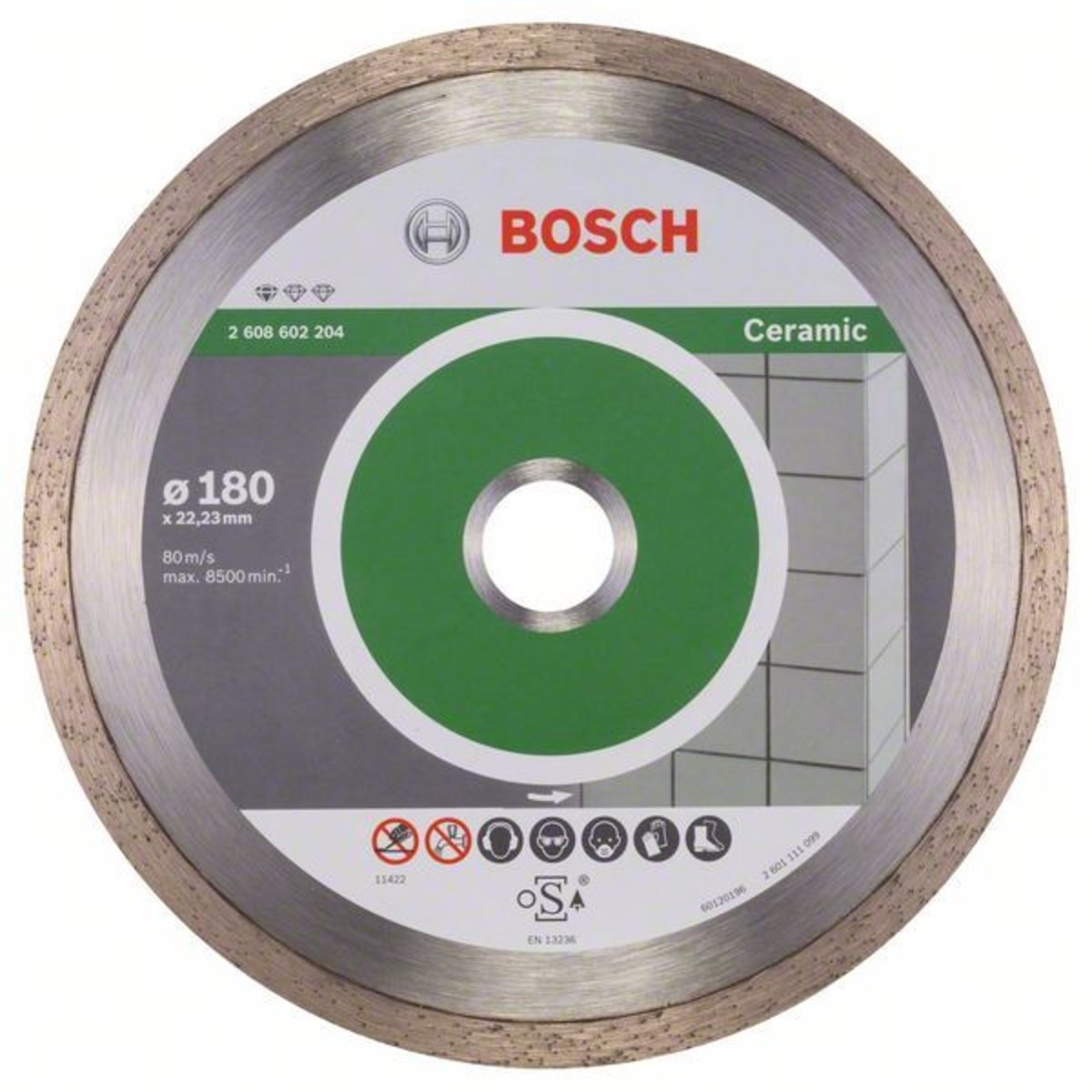 Диск Алмазный По Керамике Bosch Standart 180x2223