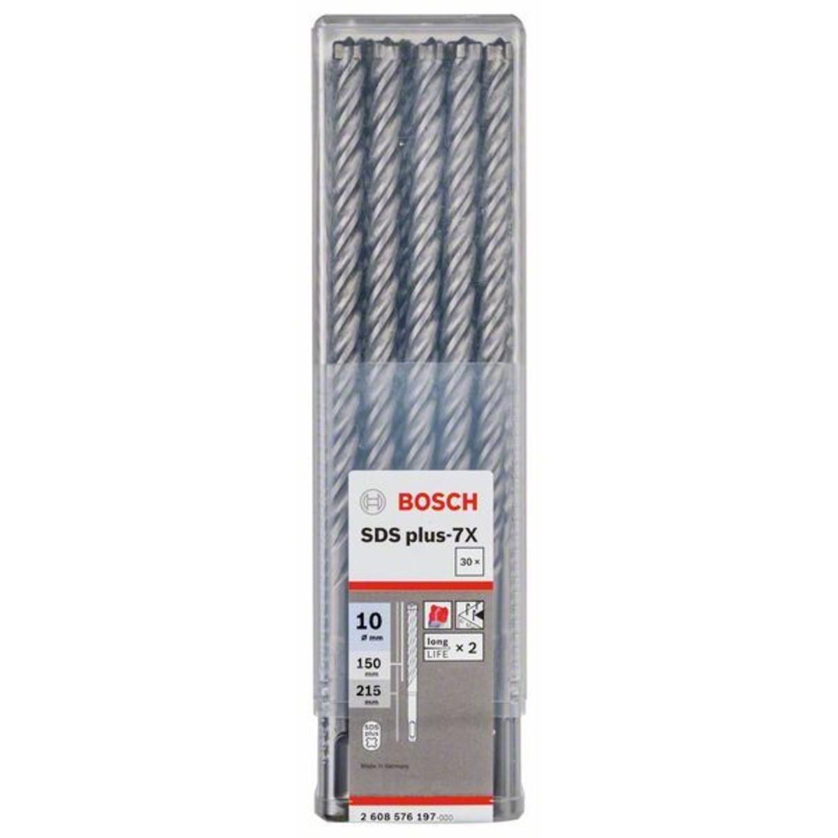 Набор буров по бетону SDS-plus 7X Bosch 10x150x215 мм 30 шт.