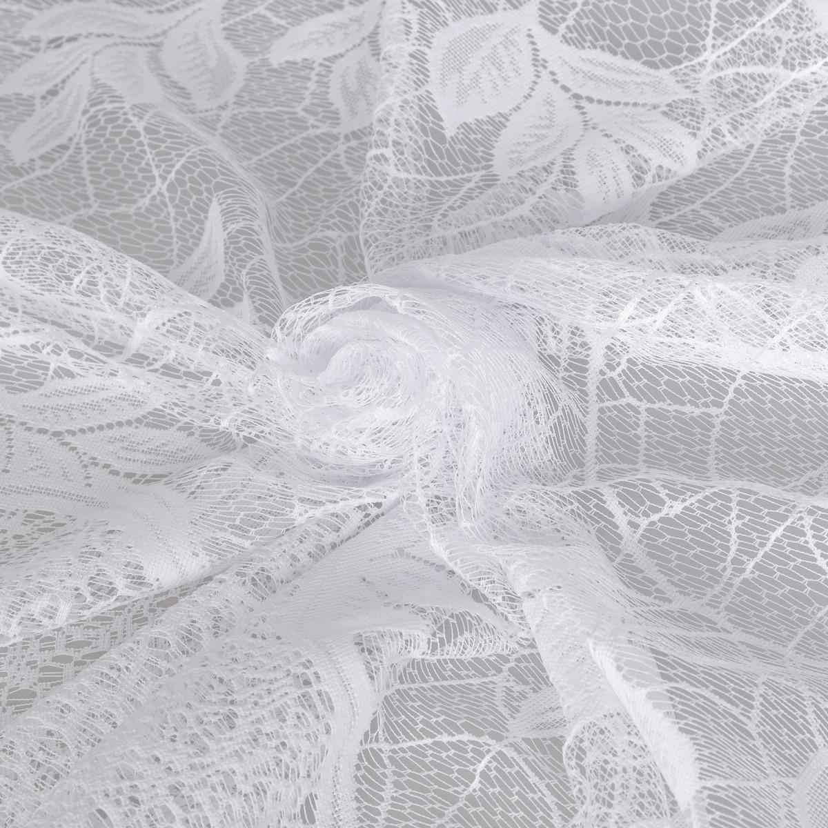 Тюль 1 м/п Арка листок сетка 170 см цвет белый