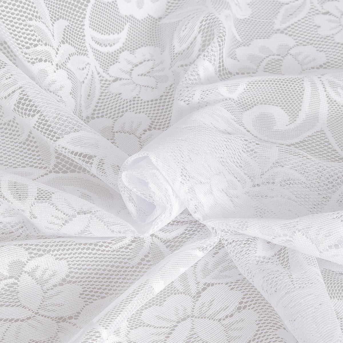 Тюль 1 м/п Арка ажурная сетка 170 см цвет белый