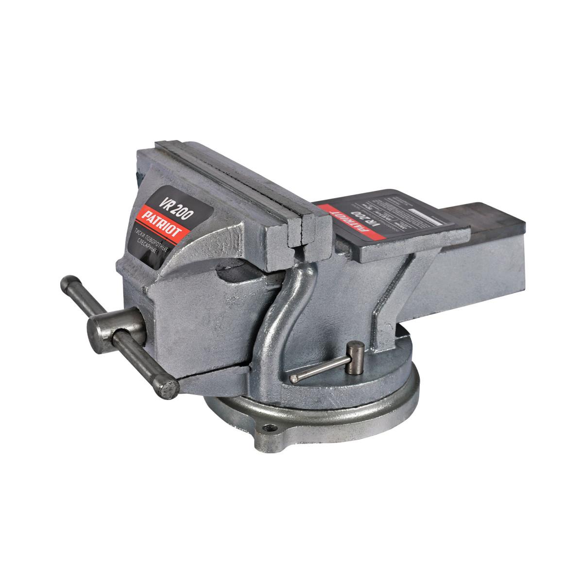 Тиски слесарные поворотные Patriot 200 мм