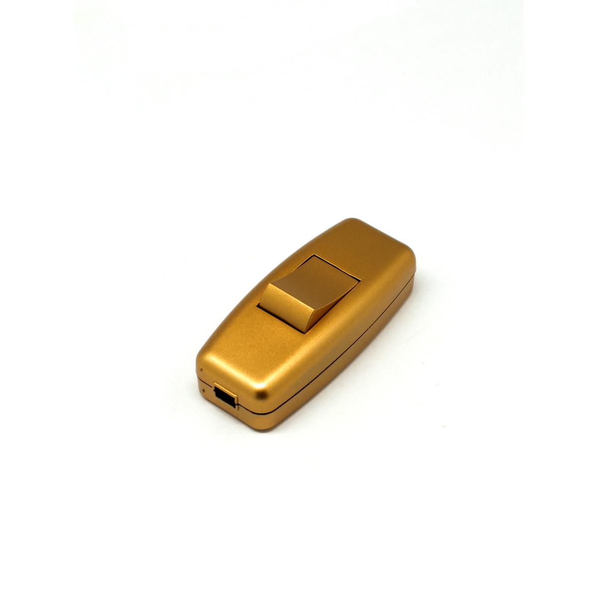 Выключатель Oxion проходной цвет золотой