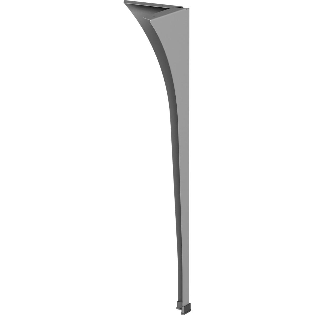 Ножка для стола 710 мм сталь цвет серый