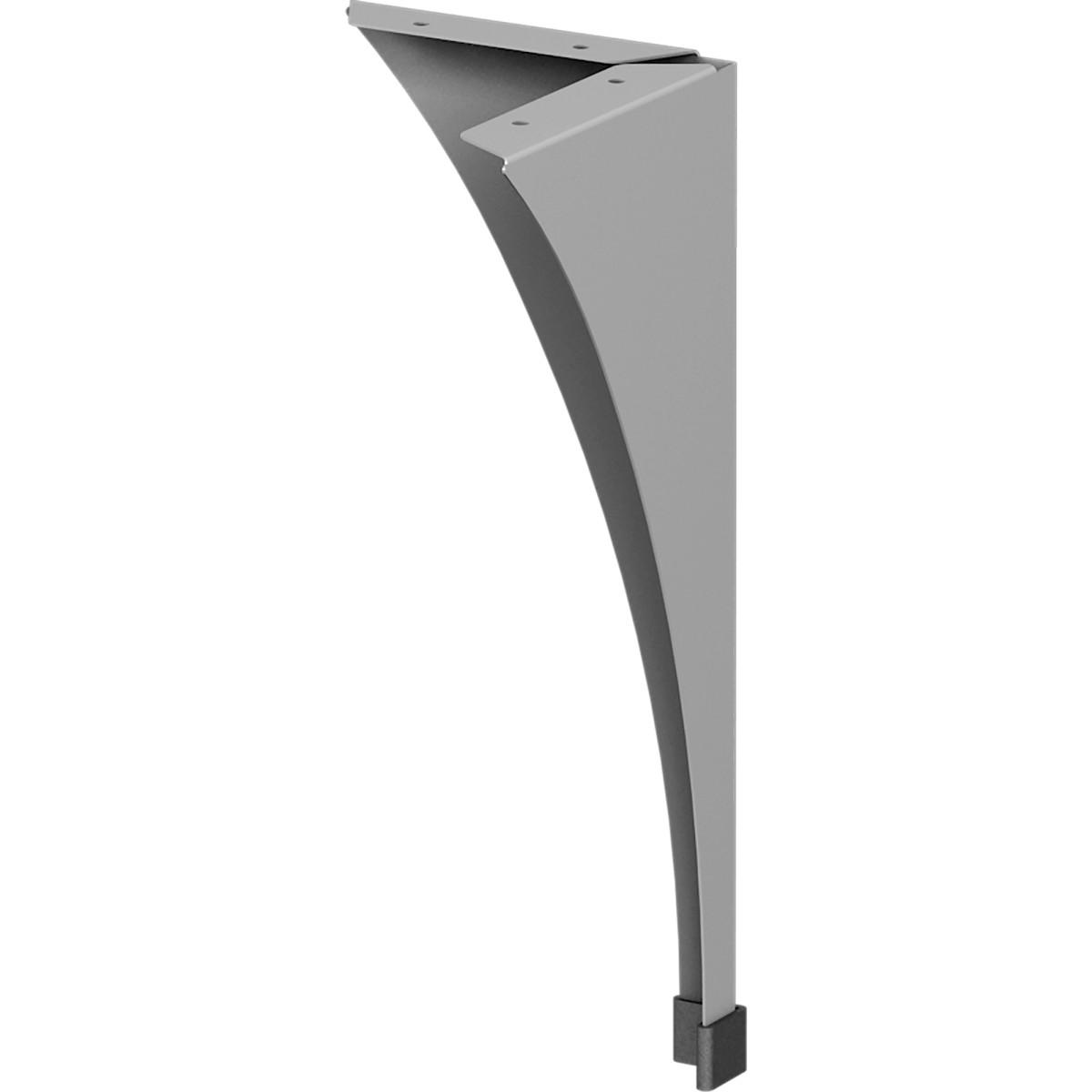 Ножка для журнального стола 400 мм сталь цвет серый