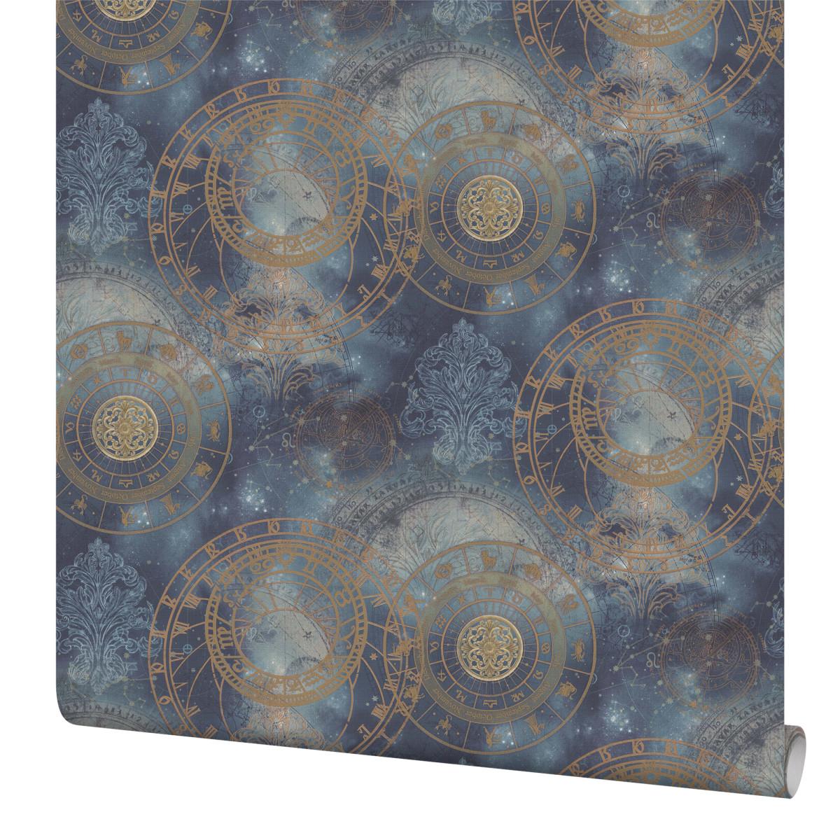 Обои флизелиновые Home Color Zodiac синие 1.06 м HC71450-66
