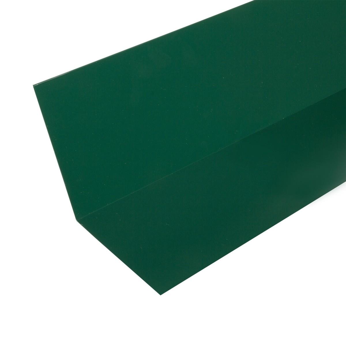 Планка примыкания верхняя п/э 2 м зеленый